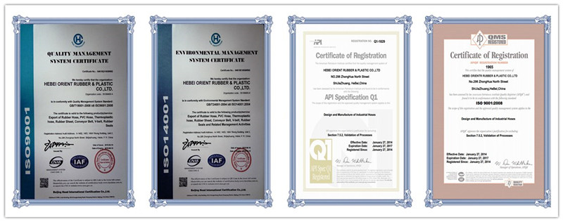 hydraulic hose certifications