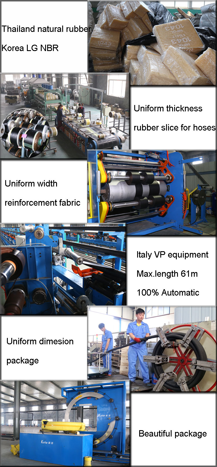 Oil discharge hose production